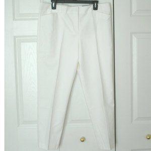 Liz Claiborne Emma Classic Pants, White, Size 14